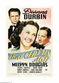 """Movie Posters:Comedy, That Certain Age (Universal, 1938). One Sheet (27"""" X 41""""). DeannaDurbin rose from relative obscurity to being one of the hi..."""