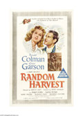 "Movie Posters:Romance, Random Harvest (MGM, 1942). Australian One Sheet (27"" X 40"").Ronald Colman stars as a shell-shocked amnesia victim who leav..."