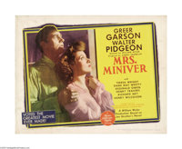 "Mrs. Miniver (MGM, 1942). Half Sheet (22"" X 28""). William Wyler directed this story of an English family durin..."