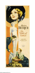 "Movie Posters:Drama, Song of Songs (Paramount, 1933). Insert (14"" X 36""). MarleneDietrich's name above a film's title was enough to inspire myst..."