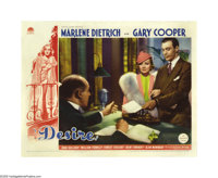 "Desire (Paramount, 1936). Lobby Cards (2) (11"" X 14""). Marlene Dietrich stars as a seductive jewel thief who s..."