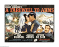 "Movie Posters:War, A Farewell to Arms (20th Century Fox, 1957). British Quad (30"" X 40""). David O. Selznick produced this adaptation of the Ern..."