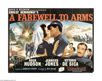 "A Farewell to Arms (20th Century Fox, 1957). British Quad (30"" X 40""). David O. Selznick produced this adaptat..."