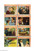 """Movie Posters:Comedy, Adventures of Huckleberry Finn (MGM, 1939). Lobby Card Set of 8(11"""" X 14""""). Child star Mickey Rooney plays one of the world... (8items)"""