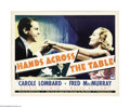 """Movie Posters:Comedy, Hands Across the Table (Paramount, 1935). Half Sheet (22"""" X 28""""). Carole Lombard and Fred MacMurray play a couple of cynical..."""