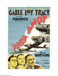 "Movie Posters:Action, Test Pilot (MGM, 1938). Australian One Sheet (27"" X 40""). Clark Gable plays a courageous test pilot in this MGM drama that i..."