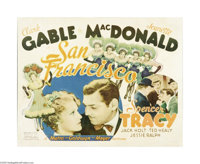 "San Francisco (MGM, 1936). Half Sheet (22"" X 28""). This 1936 musical is the godfather of disaster epics and st..."