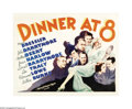 """Movie Posters:Comedy, Dinner at Eight (MGM, 1933). Half Sheet (22"""" X 28""""). This film was based on the Broadway comedy hit by George S. Kaufman and..."""