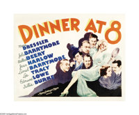 "Dinner at Eight (MGM, 1933). Half Sheet (22"" X 28""). This film was based on the Broadway comedy hit by George..."