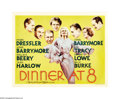 "Movie Posters:Comedy, Dinner at Eight (MGM, 1933). Half Sheet (22"" X 28""). Director George Cukor (""Philadelphia Story"" 1940) leads one of the fine..."
