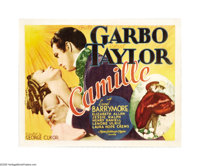 "Camille (MGM, 1937). Half Sheet (22"" X 28""). This version of the Alexander Dumas' story of a Parisian courtesa..."