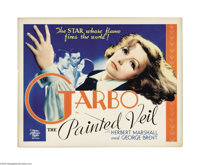 "The Painted Veil (MGM, 1934). Half Sheet (22"" X 28""). Greta Garbo stars in this romance as a woman who marries..."