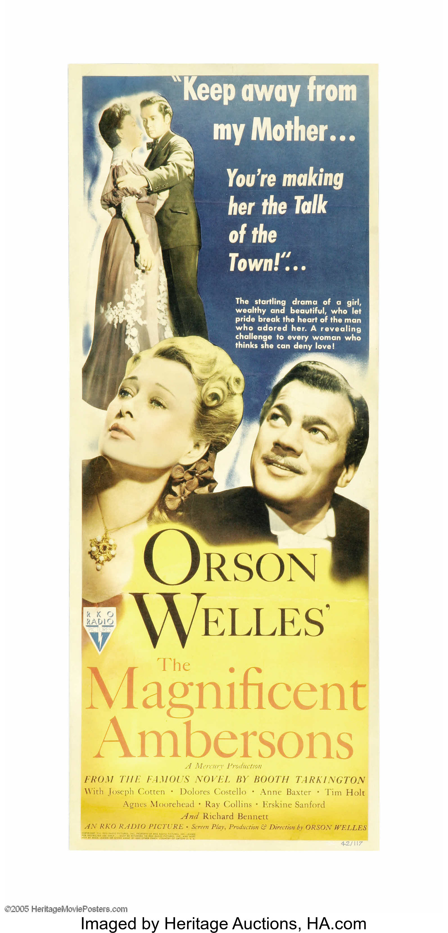 Orson Welles/' The magnificent Ambersons movie poster