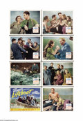"Movie Posters:War, Lifeboat (20th Century Fox, 1944). Lobby Card Set of 8 (11"" X 14"").Alfred Hitchcock directed this taunt WWII drama about a ... (8items)"