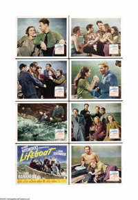 "Lifeboat (20th Century Fox, 1944). Lobby Card Set of 8 (11"" X 14""). Alfred Hitchcock directed this taunt WWII..."