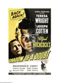"Movie Posters:Mystery, Shadow of a Doubt (Universal, R-1946). One Sheet (27"" X 41"").Master Director Alfred Hitchcock often said that this was his ..."