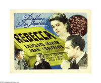 "Rebecca (United Artists, 1940). Title Card and Lobby Cards (3) (11"" X 14""). These cards from Hitchcock's first..."