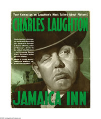 Jamaica Inn (Paramount, 1939). Pressbook (Multiple Pages). This Hitchcock classic tells the amazing adventures of Squire...
