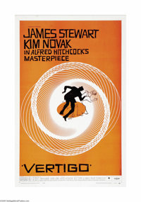 """Vertigo (Paramount, 1958). One Sheet (27"""" X 41""""). Alfred Hitchcock weaves an intricate web of obsession and de..."""