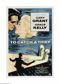 "To Catch a Thief (Paramount, 1955). One Sheet (27"" X 41""). One of Hitchcock's classic suspense capers, set aga..."
