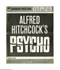 "Movie Posters:Hitchcock, Psycho (Paramount, 1960). Pressbook (Multiple Pages) and Care andHandling Manual (12.5"" X 11.5""). In this, his classic tale... (2items)"