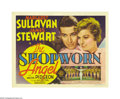 "Movie Posters:Romance, The Shopworn Angel (MGM, 1938). Title Lobby Card (11"" X 14""). JimmyStewart stars as a naive young Texas soldier who is sent..."