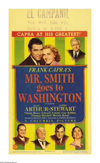 "Mr. Smith Goes To Washington (Columbia, 1939). Midget Window Card (8"" X 14""). This film, which is considered t..."