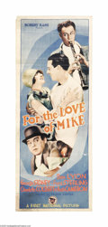 "Movie Posters:Comedy, For the Love of Mike (First National, 1927). Insert (14"" X 36"").Legend has it that when this film wrapped shooting in New Y..."