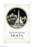 """Movie Posters:Science Fiction, Destination Moon (Pathe', 1950). Deluxe Pressbook (Multiple Pages).Based closely on the Robert Heinlein novel, """"Rocketship ..."""