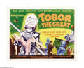 "Movie Posters:Science Fiction, Tobor the Great (Republic, 1954). Half Sheet (22"" X 28"") Style A.This was Republic Studios' early attempt at science fictio..."