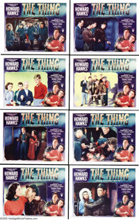 "The Thing From Another World (RKO, 1951). Lobby Card Set of 8 (11"" X 14""). Producer Howard Hawks' strong and s..."