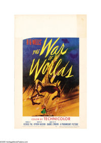 """The War of the Worlds (Paramount, 1953). Window Card (14"""" X 22""""). This sci-fi classic had been considered as a..."""