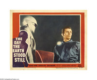 "The Day the Earth Stood Still (20th Century Fox, 1951) Lobby Card (11"" X 14""). Robert Wise's sci-fi masterpiec..."