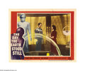 "Movie Posters:Science Fiction, The Day the Earth Stood Still (20th Century Fox, 1951) Lobby Card (11"" X 14""). Robert Wise's classic science fiction epic is..."