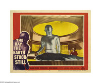 """The Day the Earth Stood Still (20th Century Fox, 1951) Lobby Card (11"""" X 14""""). Offered in this lot is card #3..."""