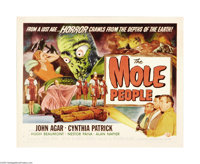 """The Mole People (Universal International, 1956). Half Sheet (22"""" X 28"""") Style A. Dr. John Bentley, along with..."""