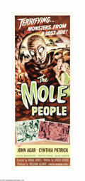 "Movie Posters:Science Fiction, The Mole People (Universal International, 1956). Insert (14"" X36""). This is director Virgil Vogel's campy '50s horror film,..."
