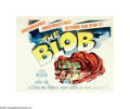 "Movie Posters:Science Fiction, The Blob (Paramount, 1958). Half Sheet (22"" X 28""). Steve McQueenhad only a few uncredited roles under his belt when he was..."