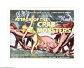 "Movie Posters:Science Fiction, Attack of the Crab Monsters (Allied Artists, 1957). Half Sheet (22""X 28""). Schlock sci-fi cinema fans arise. Here's your op..."