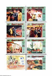 """The Monolith Monsters (Universal International, 1957). Lobby Card Set of 8 (11"""" X 14""""). When a huge meteor cra..."""