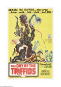 "Movie Posters:Science Fiction, The Day of the Triffids (Allied Artists, 1960). One Sheet (27"" X41""). Based on the novel by John Wyndham, the film begins w..."