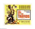 "Movie Posters:Science Fiction, The Day of the Triffids (Allied Artists, 1960). Half Sheet (22"" X28""). From the rubble of an enormous, deadly meteor shower..."