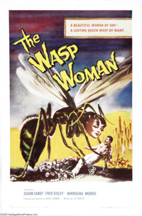"""The Wasp Woman (Film Group, Inc., 1959). One Sheet (27"""" X 41""""). Susan Cabot stars as a cosmetics company owner..."""