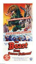 "Movie Posters:Science Fiction, Beast From 20,000 Fathoms (Warner Brothers, 1953). Australian ThreeSheet (41"" X 81""). As a result of an arctic nuclear test..."