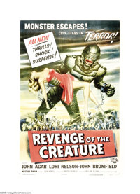 "Revenge of The Creature (Universal, 1955). One Sheet (27"" X 41""). The highest-grossing film of the 'Creature&q..."