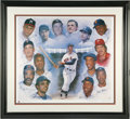 Baseball Collectibles:Others, 500 Home Run Club Signed Lithograph. Masterful work by noted sports artist Doo S. Oh is number 151 of a limited edition of 2...