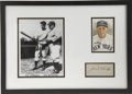 Autographs:Letters, Joe McCarthy Cut Signature Display. A simply dazzling applicationof the Hall of Fame manager Joe McCarthy's signature is t...