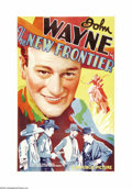 """Movie Posters:Western, New Frontier (Republic, 1935). One Sheet (27"""" X 41""""). This is the second feature in John Wayne's twenty-plus-year partnershi..."""
