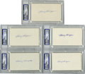 Autographs:Index Cards, Harry Hooper Signed Index Cards, PSA-Graded Group Lot of 5. Collection of five graded index cards have all been signed by th...