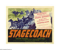 "Movie Posters:Western, Stagecoach (United Artists, 1939). Title Lobby Card (11"" X 14"").John Wayne finally achieved stardom after an almost ten-yea..."